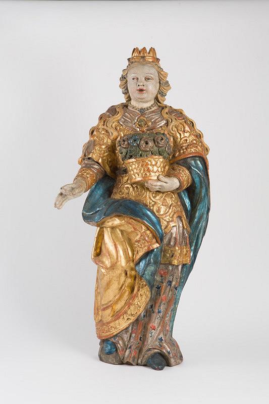 Slovenský rezbár z 2. polovice 18. storočia – Sv. Dorota