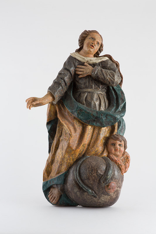 Slovenský rezbár z 2. polovice 18. storočia – Panna Mária