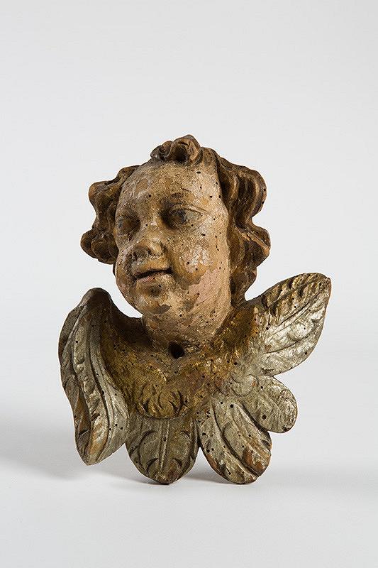 Neznámy autor - Hlava anjela s krídielkami