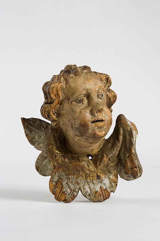 Slovenský rezbár z 2. polovice 18. storočia - Hlava anjela