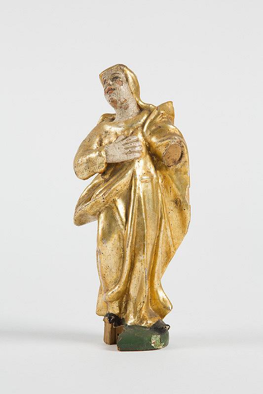 Slovenský rezbár z 2. polovice 18. storočia – Panna Mária Bolestná