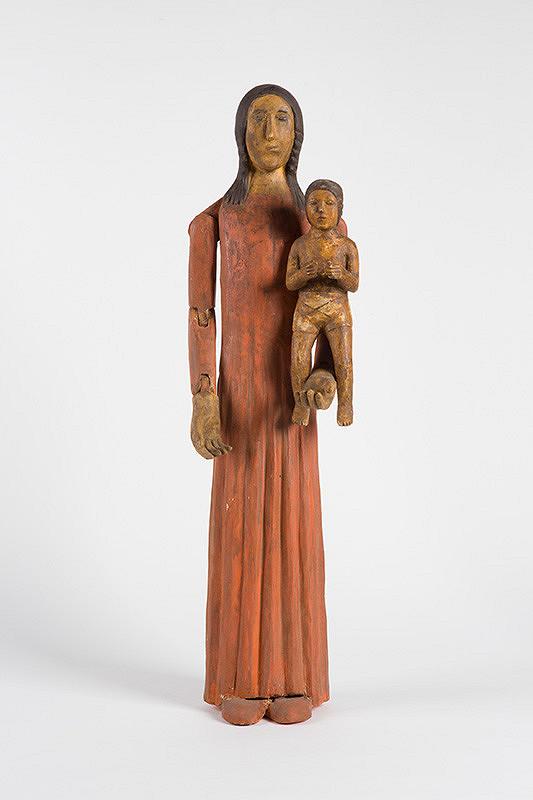 Neznámy autor – Obliekacia Panna Mária s dieťaťom