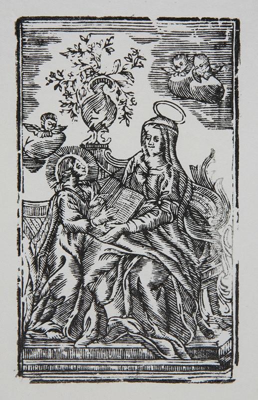 Neznámy autor – Sv. Anna vyučuje Pannu Máriu