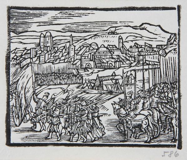Neznámy autor – Vojsko pred hradbami mesta