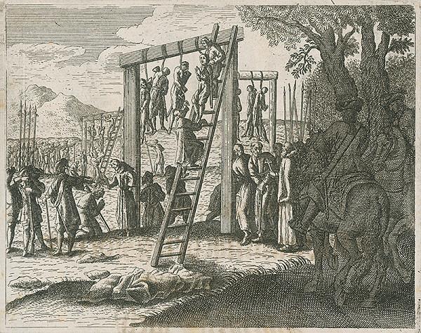 Neznámy autor – Poprava vodcu povstania Gašpara Piku a 25 oravských a liptovských richtárov 25.11.1672