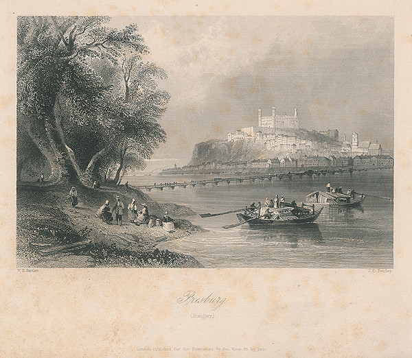 Joseph Clayton Bentley, William Henry Bartlett – Pohľad na bratislavský hrad