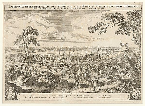 Matthäus Merian – Pohľad na Bratislavu