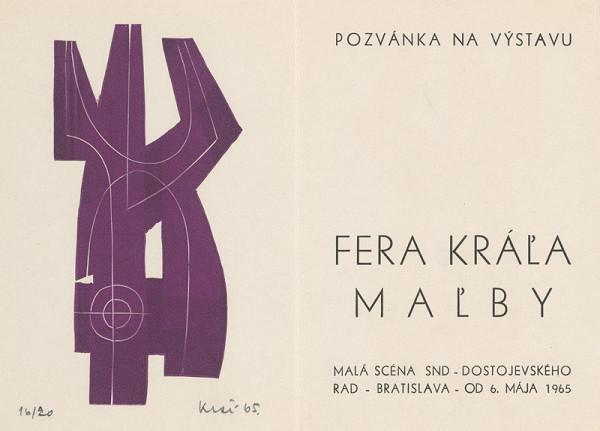 Fero Kráľ – Pozvánka na výstavu Fera Kráľa-maľby