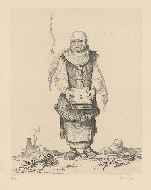 Jaroslav Vodrážka - Husitská žena s bibliou