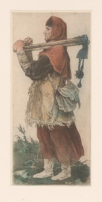 Jaroslav Vodrážka - Husitská žena pracujúca na poli