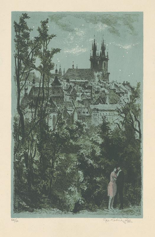 Jaroslav Vodrážka - Týnsky chrám z Letnej