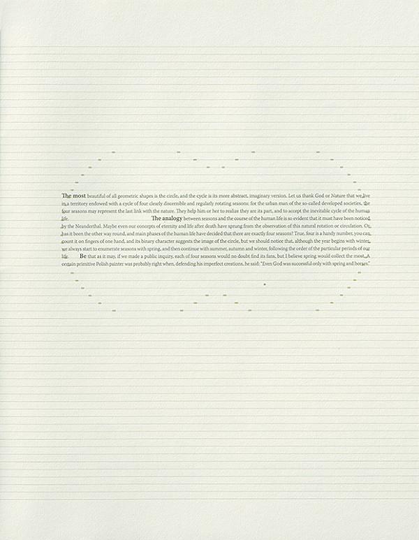 Róbert Brun – Štyri ročné obdobia (strana z bibliofílie)