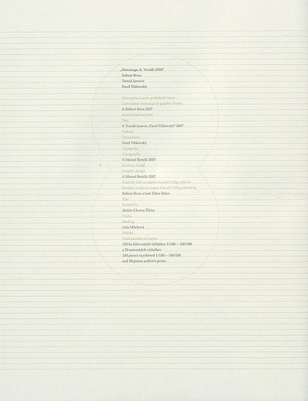 Róbert Brun - Štyri ročné obdobia (strana z bibliofílie)