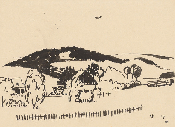 Viliam Chmel – Stredoslovenská krajina,kresba V.