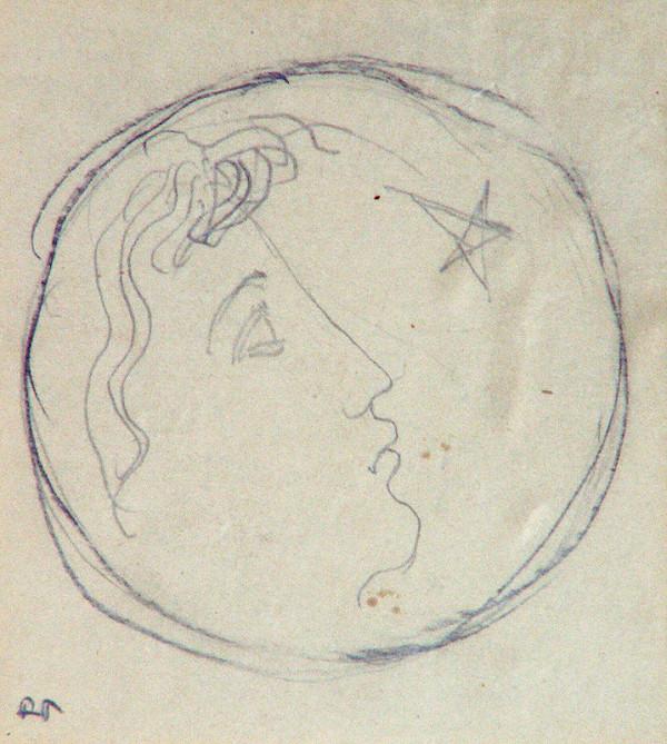 Rudolf Pribiš - Náčrt medaily