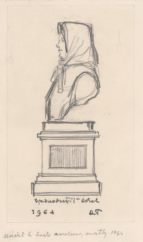 Rudolf Pribiš – Náčrt k buste umelcovej matky