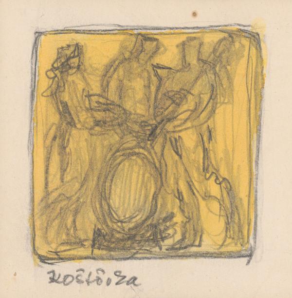 Rudolf Pribiš – Naša zem - kompozícia k cyklu reliéfov Koštovka