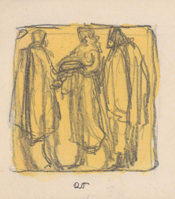 Rudolf Pribiš - Vítanie osloboditeľov - kompozícia k cyklu reliéfov VÍTANIE CHLEBOM