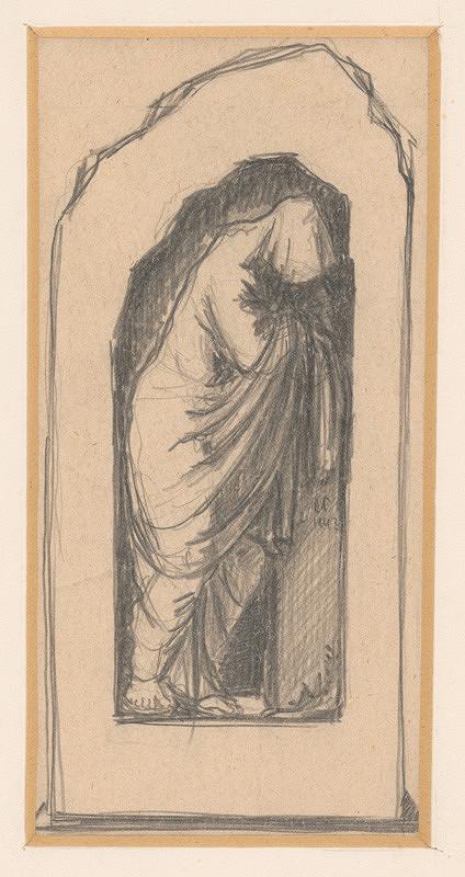 Rudolf Pribiš – Náčrt k náhrobku Červeňanských