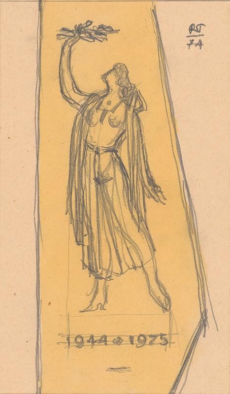 Rudolf Pribiš – Náčrt k pomníku Oslobodenia v Rajci