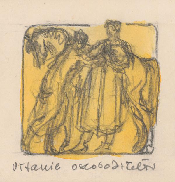Rudolf Pribiš – Vítanie osloboditeľov - z cyklu Kytica vďaky