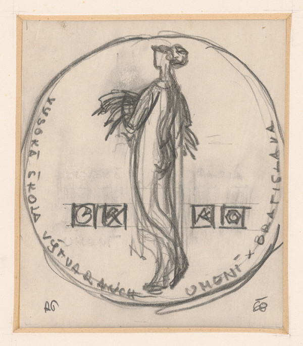 Rudolf Pribiš - III. náčrt k medaile VŠVU