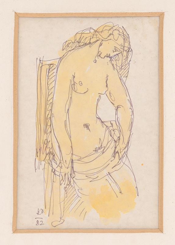 Rudolf Pribiš – Žena v kresle