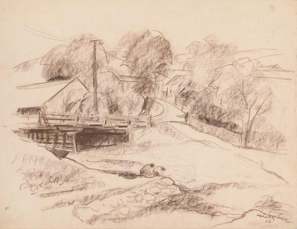 Eugen Lehotský – Dedina s mostom