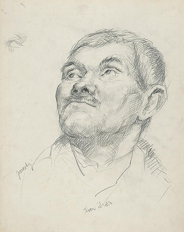 Július Jakoby – Štúdia hlavy muža