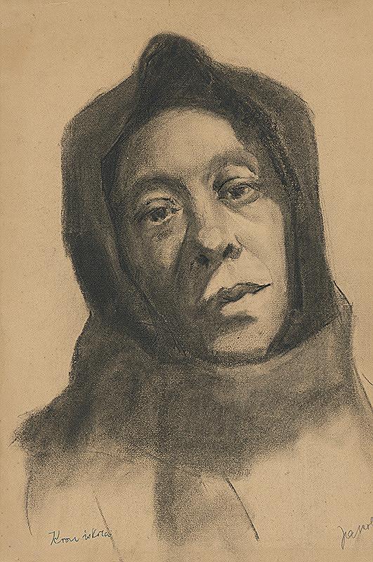 Július Jakoby - Štúdia hlavy ženy