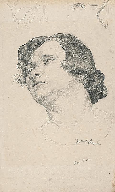 Július Jakoby – Štúdia hlavy ženy