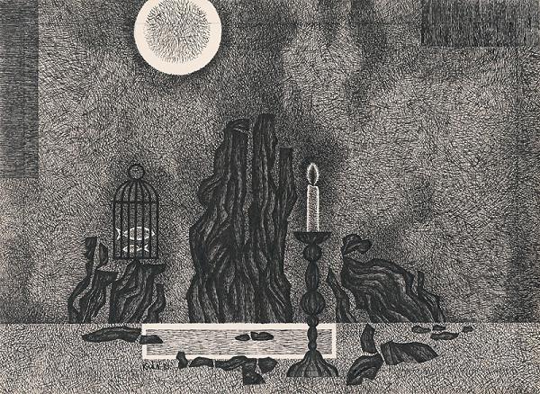 Fero Kráľ – Zátišie so sviečkou