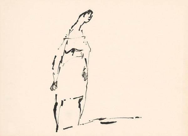 Július Lörincz - Kresba z cyklu Zo Žitného ostrova
