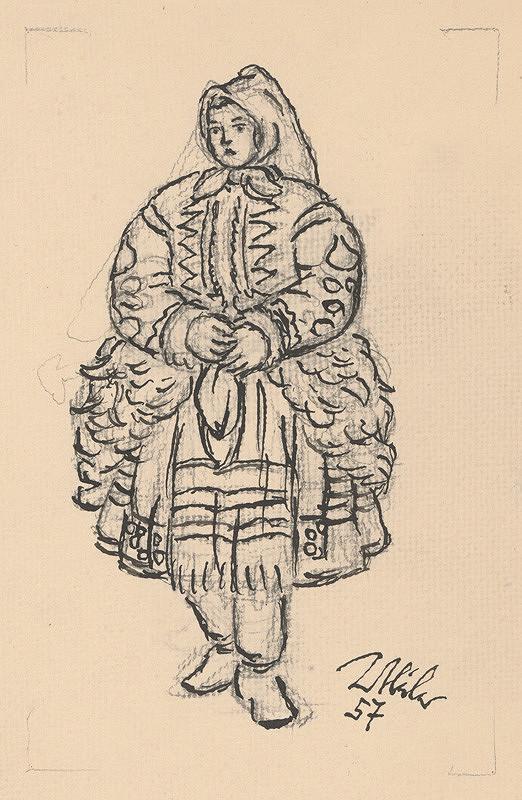 Jan Hála - Žena z Važca v kožuchu