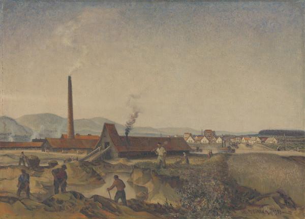Martin Benka - Výstavba tehelne v Diviakoch