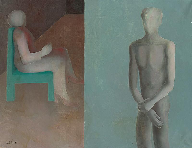 Milan Paštéka – Čakanie III., 1981, Považská galéria umenia