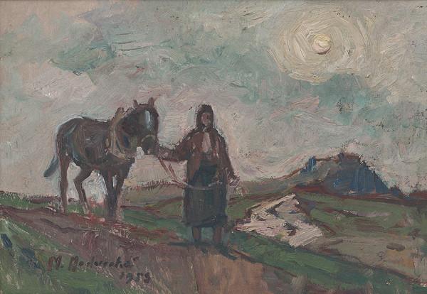 Mária Medvecká - Žena a kôň