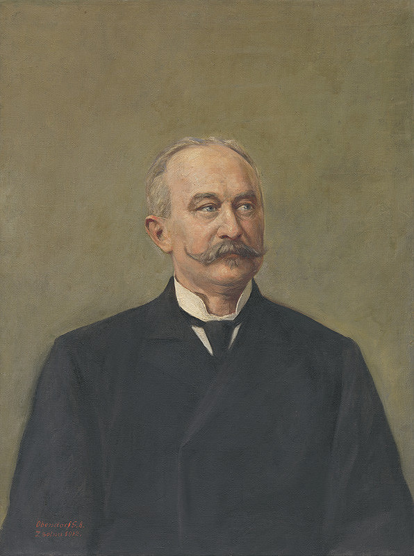 Gustáv Adolf Obendorf – Portrét muža