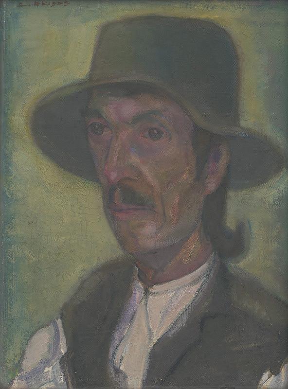 Ambróz Akidos - Hlava muža v klobúku