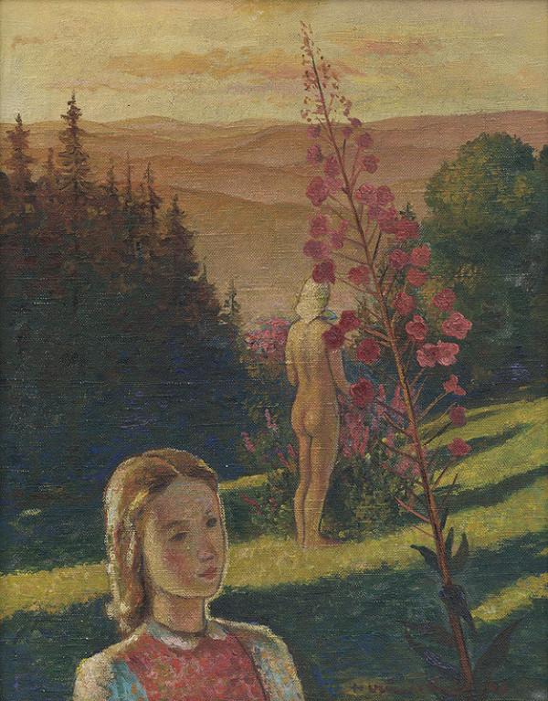 Imrich Weiner-Kráľ - Krajina s portrétom
