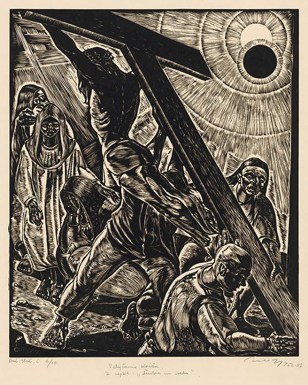 Július Szabó - Vztýčenie kríža