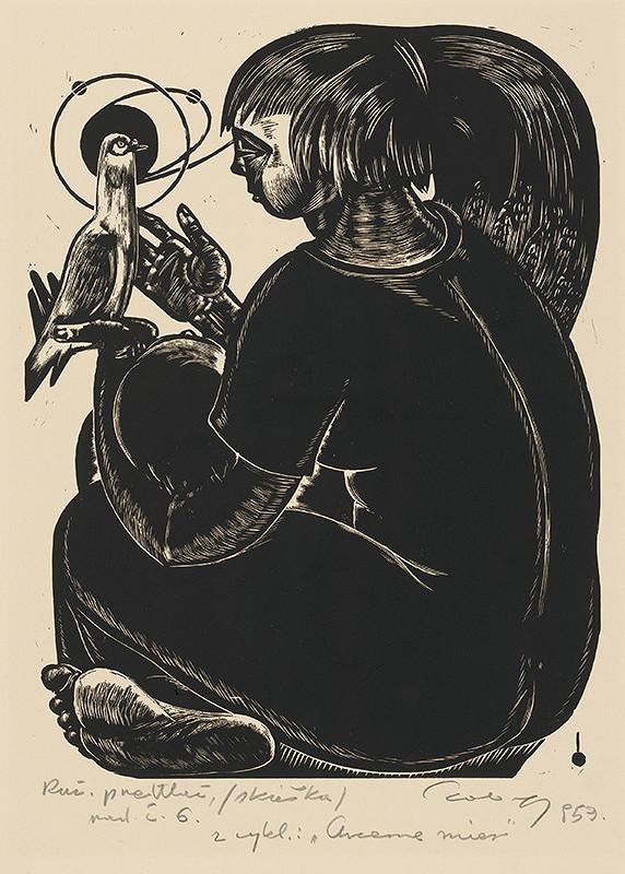Július Szabó – Dievča s holubicou