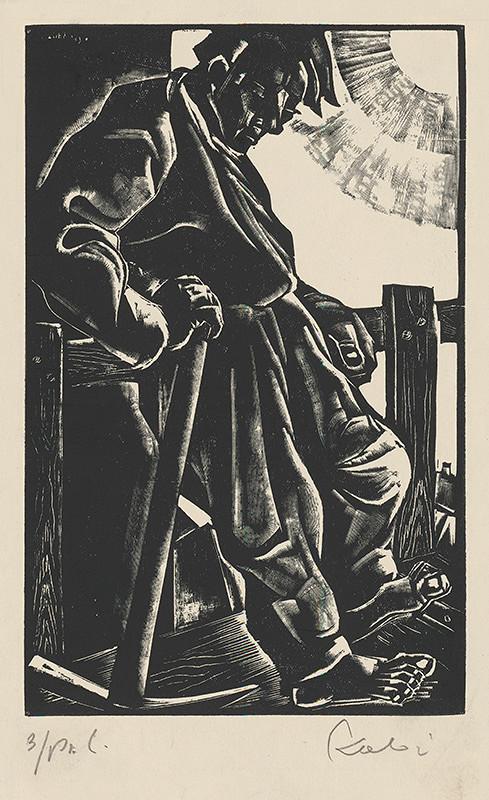 Július Szabó – Odpočívajúci robotník