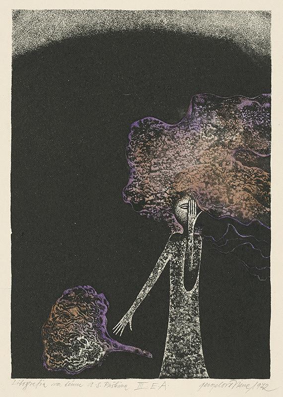 Viera Gergeľová – Litografia na tému A. S. Puškina V.