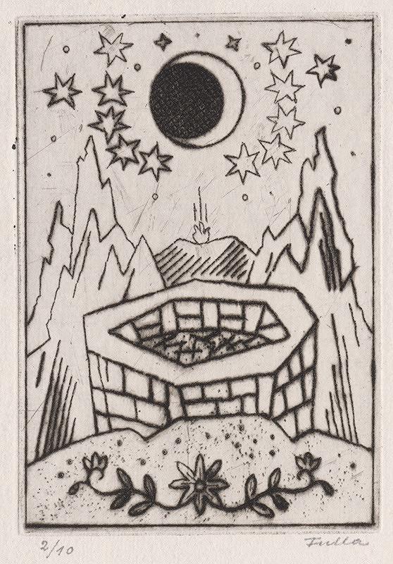 Ľudovít Fulla – Ohník na hrebeni