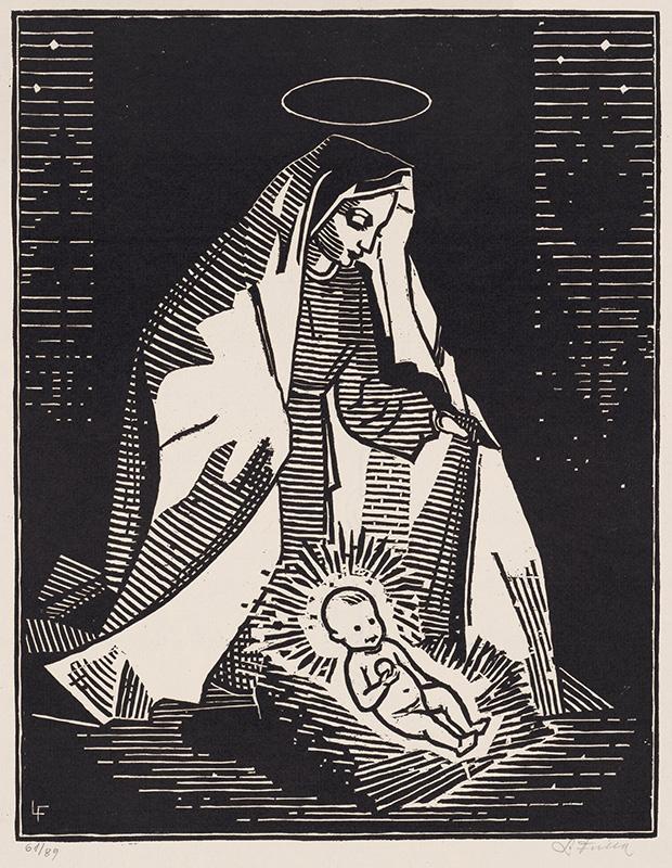 Ľudovít Fulla – Narodenie, 1940