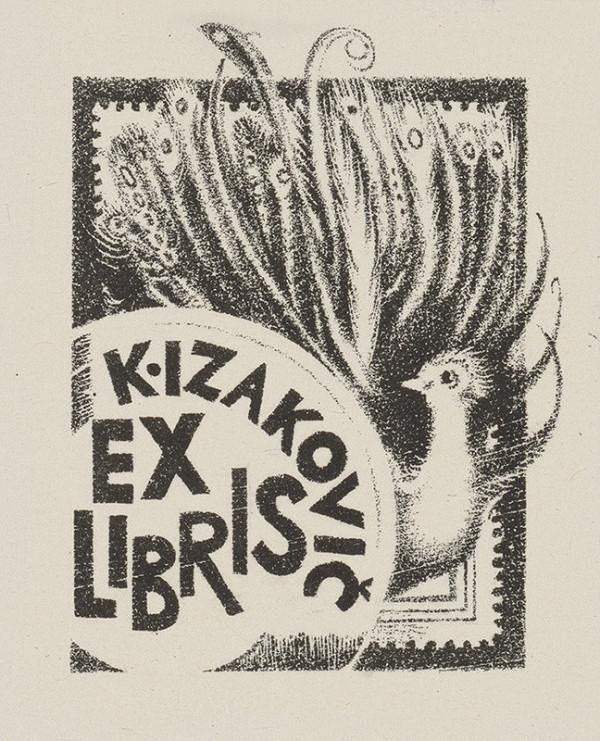 Naďa Rappensbergerová-Jankovičová - Ex libris K. Izakovič