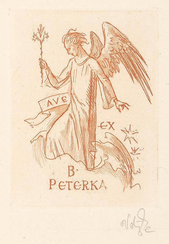 Jaroslav Vodrážka – Ex libris B. Peterka