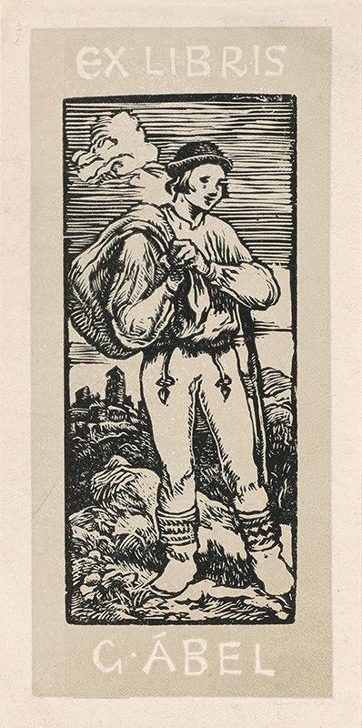 Jaroslav Vodrážka – Ex libris G.Ábel