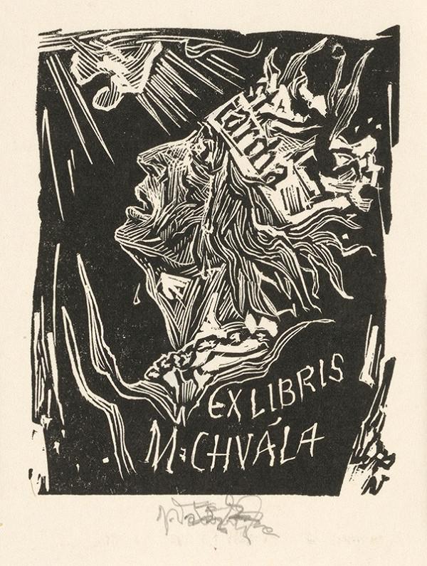 Jaroslav Vodrážka – Ex libris M. Chvála